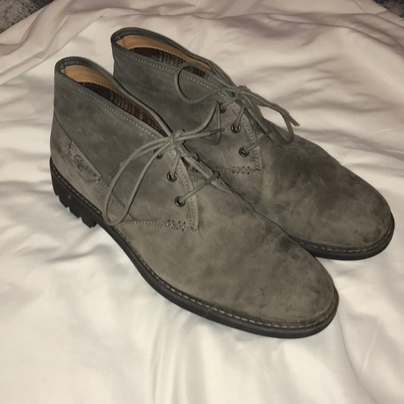 5d49292c3ca Clark's Gray Chukka Boot Suede Men's Shoe